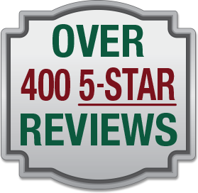 Over 400 5-Star Reviews